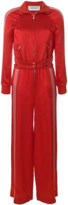 Valentino side stripe zip jumpsuit