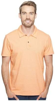 Agave Denim Short Sleeve Polo Italian Pique in Orange Men's Clothing