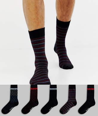 Ben Sherman 5 pack sock in gift box