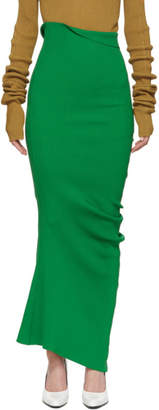 Marni Green Ribbed Pencil Skirt