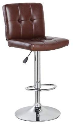 Generic Cushioned Upholstery Adjustable Height Swivel Barstool with Chrome Base(5069), Multiple Colors