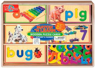 N. T.S. Shure Alphabet And Numbers Match 'N Learn Wooden Puzzle Cards