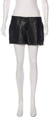 Rag & Bone Leather Panel Shorts