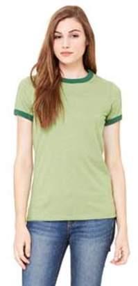Bella + Canvas Ladies' Jersey Short-Sleeve Ringer T-Shirt B6050