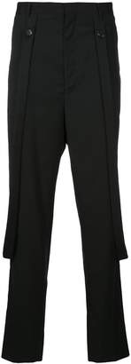 Consistence slim fit trousers with hanging suspenders