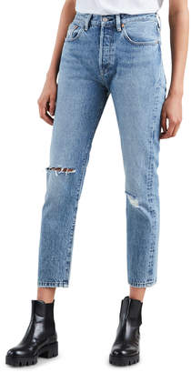 Levi's 501 High-Rise Cropped Skinny Jeans