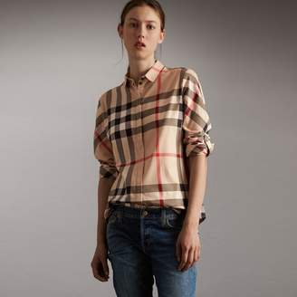 Burberry Stretch-Cotton Check Shirt