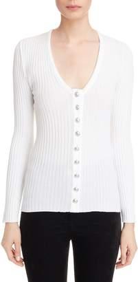 Balmain Button Front Knit Top