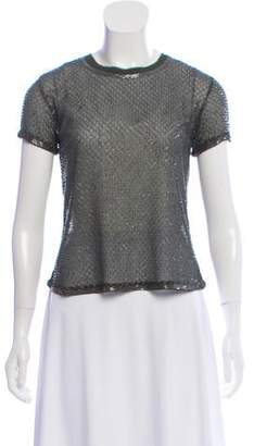Gryphon Beaded Short Sleeve Top