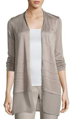 NIC+ZOE Textured Chiffon-Trim Cardigan $158 thestylecure.com
