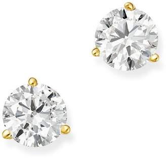 Bloomingdale's Certified Diamond Stud Earrings in 18K Yellow Gold Martini Setting, 1.50 ct. t.w. - 100% Exclusive