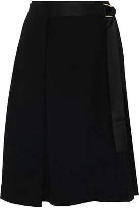 Diane von Furstenberg Pleated Crepe Wrap Skirt