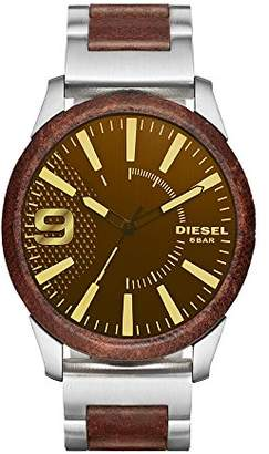 Diesel Men's DZ1799 Rasp Stainless Steel and Brown Leather Watch