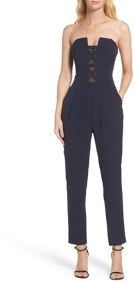 Women's Adelyn Rae Strapless Jumpsuit $96 thestylecure.com