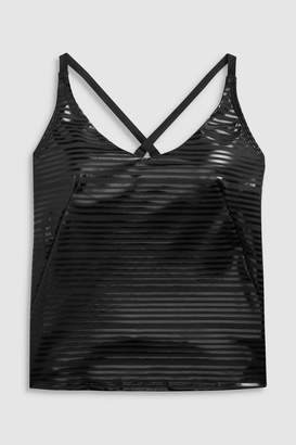56b5f53357d Nike Womens Shine Stripe Tankini - Black