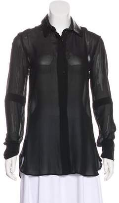 Belstaff Chiffon Button-Up Top