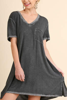 Umgee USA Washed V Neck Tee