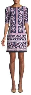 Eliza J Floral-Print Sheath Dress