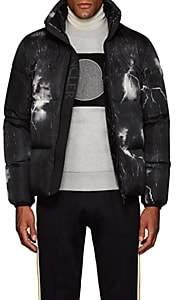 Moncler Men's Lightning-Print Down Puffer Jacket - Black