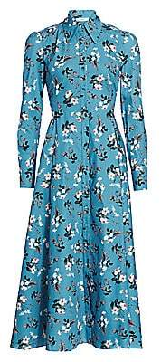 Erdem Women's Josianne Daffodil Ditsy Print Shirt dress