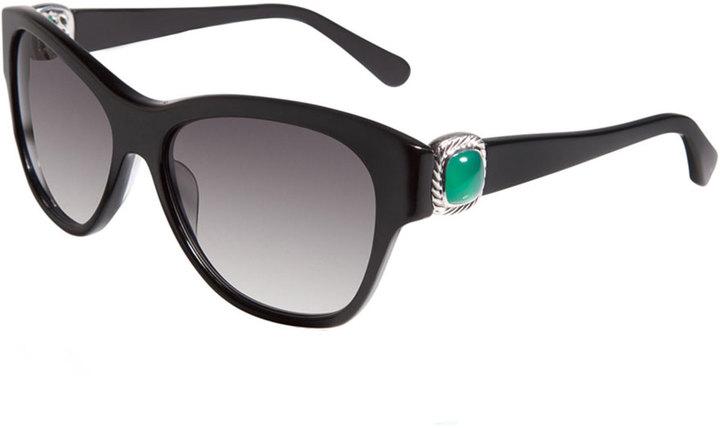 David Yurman Albion Wayfarer Sunglasses, Black Onyx