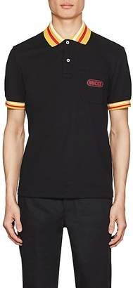 Gucci Men's Logo-Detailed Stretch-Cotton Piqué Polo Shirt