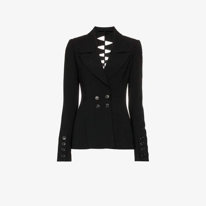 Kitx Draped cuff double breasted jacket