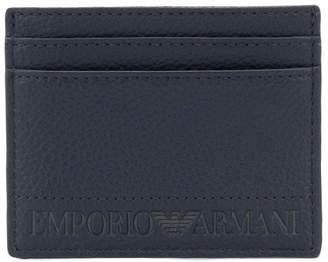 Emporio Armani logo embossed cardholder