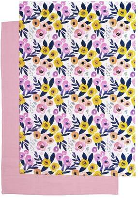 Marie Claire Palette Tres Teatowels Set of 2 Rose