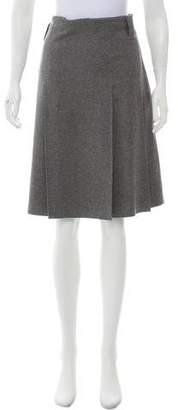 Burberry Wool & Angora-Blend Knee-Length Skirt