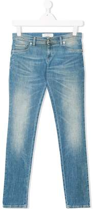 John Galliano TEEN faded slim-fit jeans