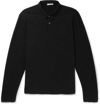 James Perse Loopback Cotton-Jersey Polo Shirt - Men - Black