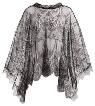 Maria Lucia Hohan Delphine Chantilly Lace Cape - Womens - Black