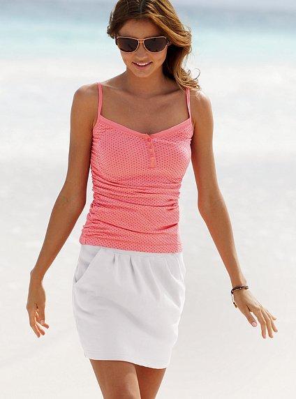 Fleece pleated miniskirt