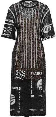 Stella McCartney Embroidered Cotton-Blend Lace Midi Dress