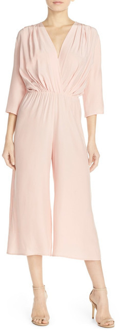 Amanda Uprichard Amanda Uprichard Gemma Crop Silk Jumpsuit