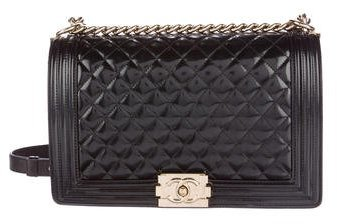 Chanel Patent Large Boy Bag