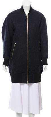 Rag & Bone Mohair-Blend Zip-Up Jacket