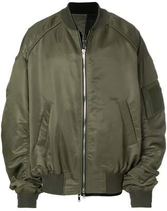 Juun.J zipped bomber jacket