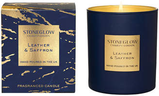Stoneglow - Luna Tumbler Candle - Leather & Saffron