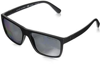 Polo Ralph Lauren Men's 0Ph4133 528481 Sunglasses, (Black/Polargrey)