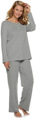Croft & Barrow Women's Textured Henley & Pajama Pants Set