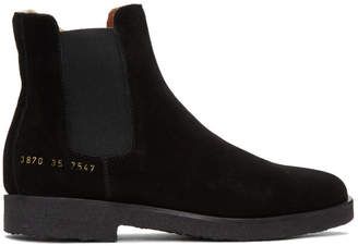 Common Projects Woman by Black Suede Chelsea Boots