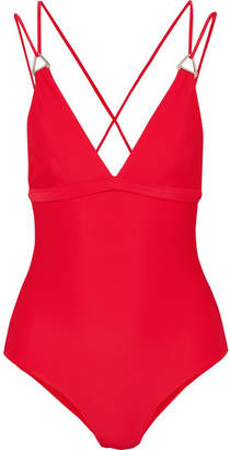 Dion Lee Tri Lock Swimsuit - Red