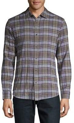 Black & Brown Black Brown Plaid Long-Sleeve Shirt