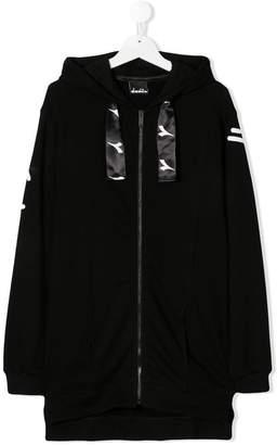 Diadora Junior TEEN logo printed hoodie