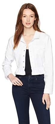 Calvin Klein Women's Solid Long Sleeved Ruffle Hem Shrug