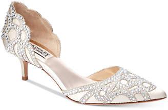Badgley Mischka Ginny D'Orsay Kitten Heels Women's Shoes