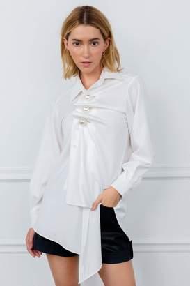 J.ING Perlana White Asymmetrical Tunic
