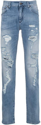 Dolce & Gabbana distressed slim fit jeans